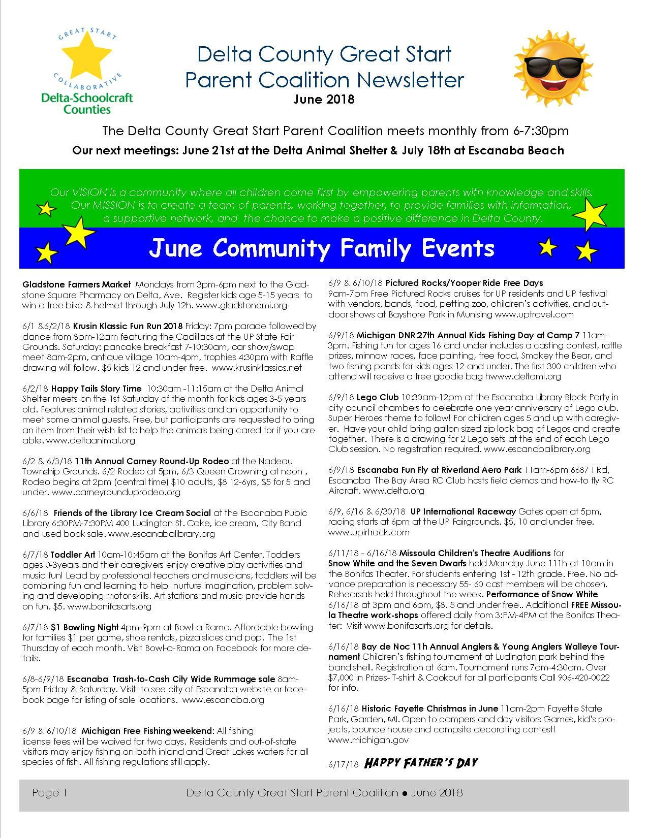 PG 1of 4 June 2018 delta county newsletter see .pdf for text