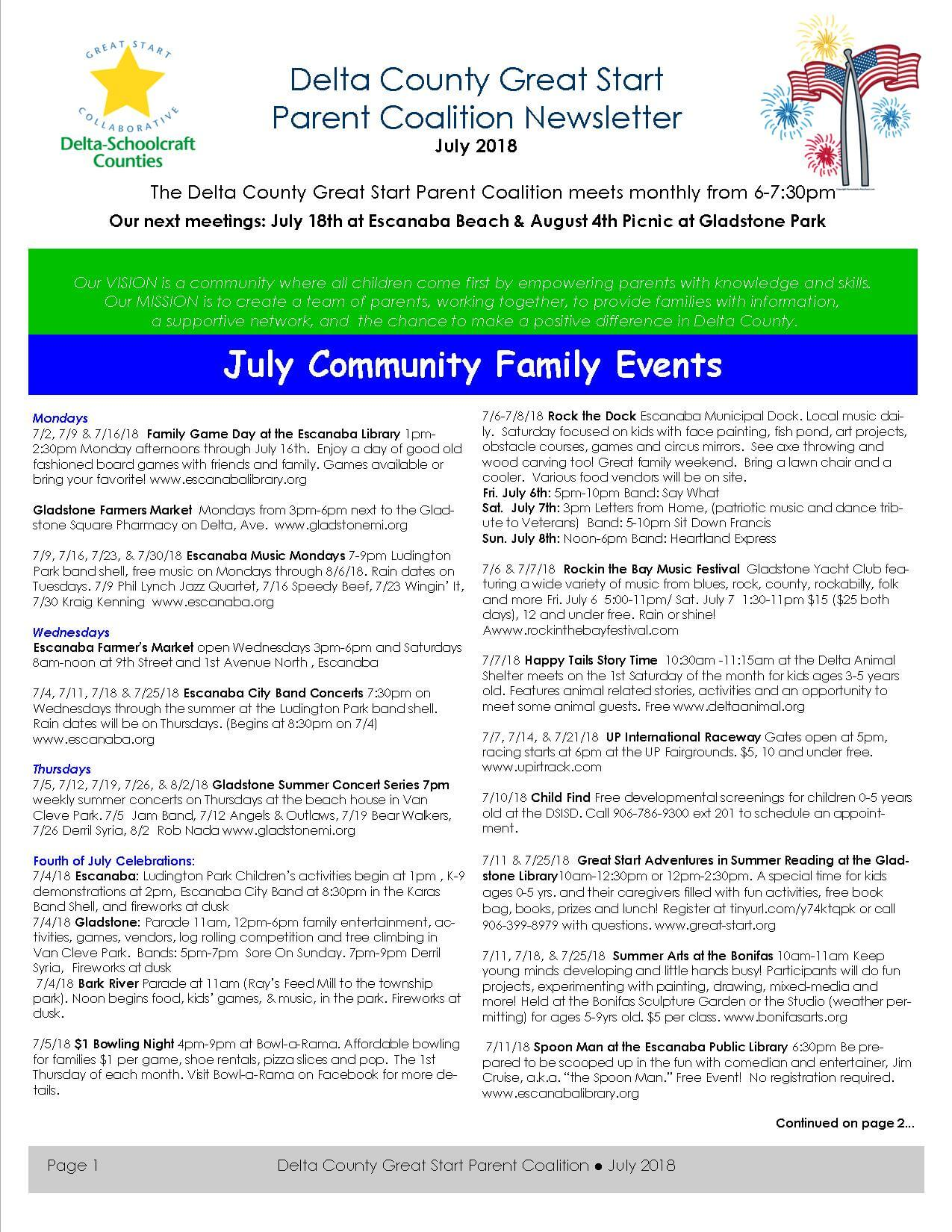 Delta County July newsletter pg 1 of 4