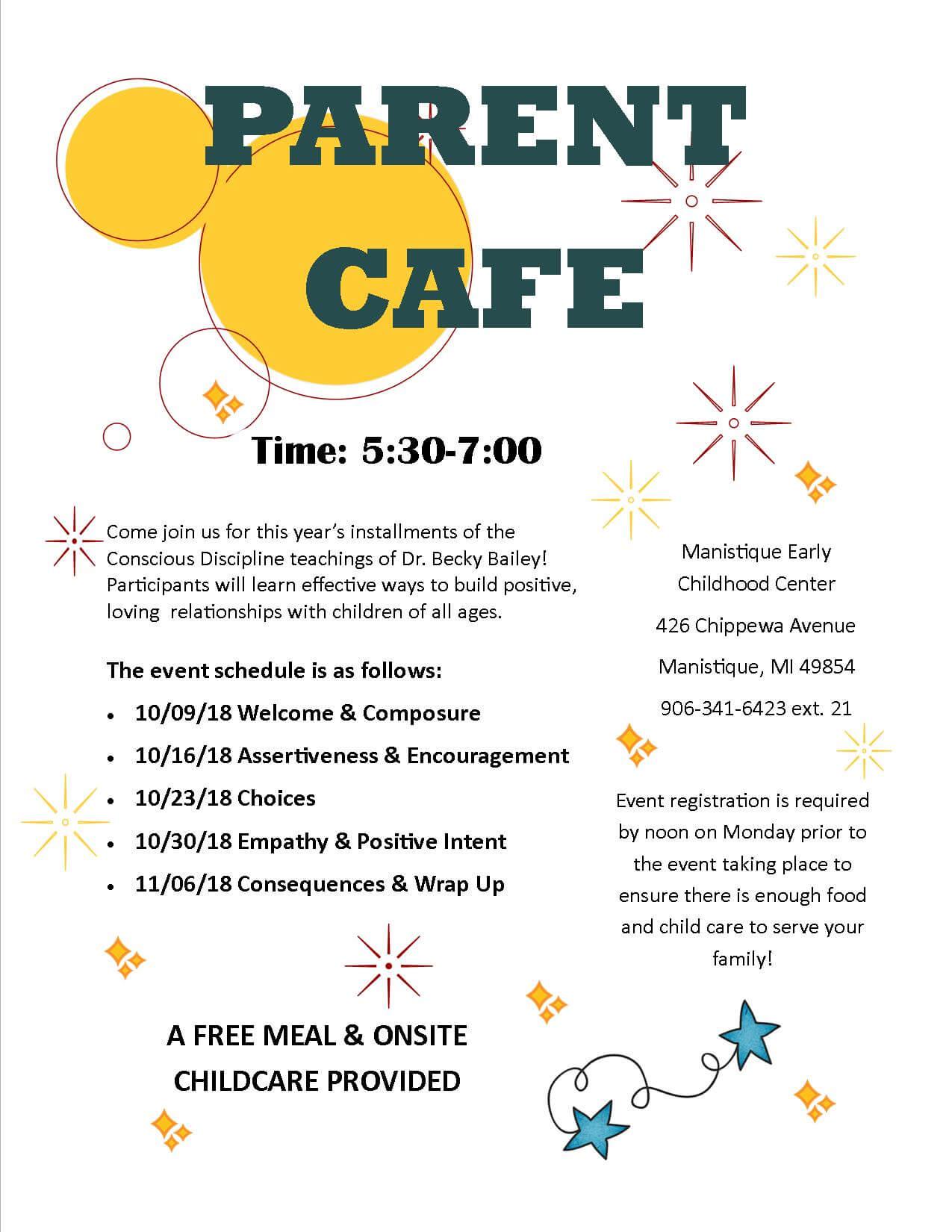 Manistique HS 2018 parent cafes
