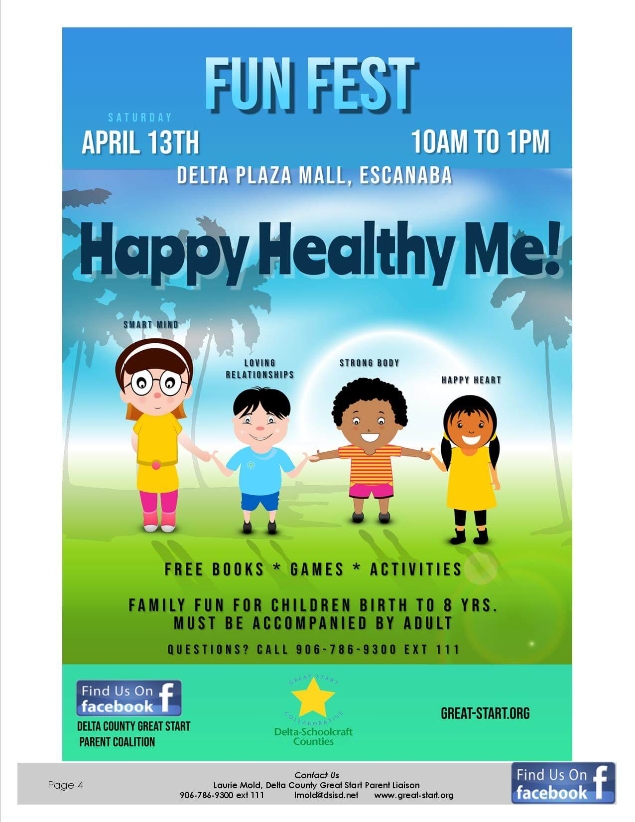 Fun Fest 2019 Happy Healthy Me flyer