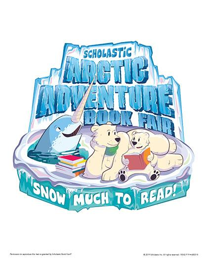 "Scholastic Book Fair. ""Snow much to read."""